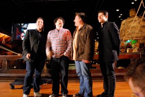 ME, TIM SCHAFER, RON GILBERT AND DARRELL RODRIGUEZ